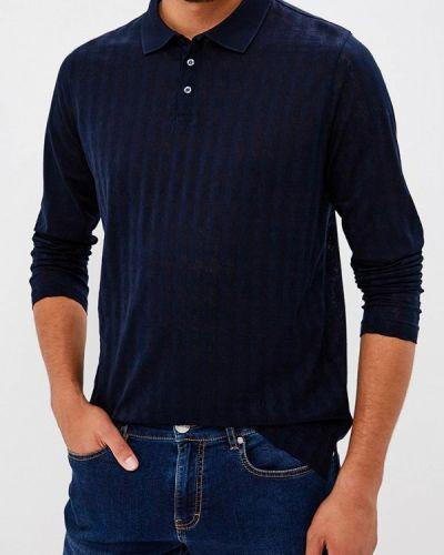Синее поло с длинным рукавом Karl Lagerfeld