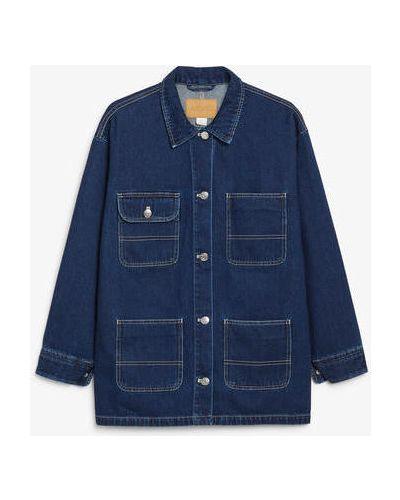 Синий пиджак милитари Monki