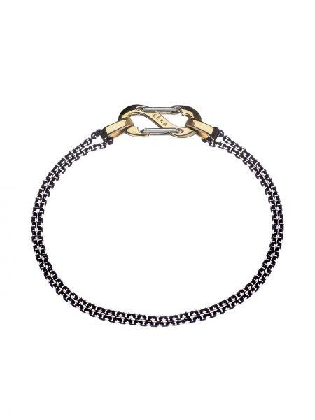 Żółta ażurowa złota bransoletka łańcuch Eera