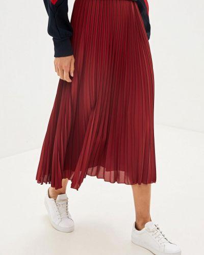 Плиссированная юбка красный Tommy Hilfiger