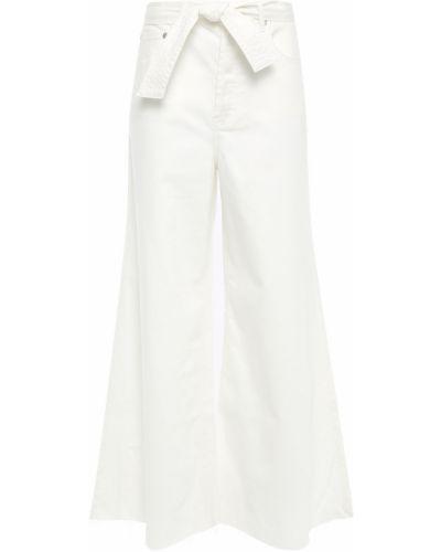 Niebieskie jeansy bawełniane z paskiem Zimmermann