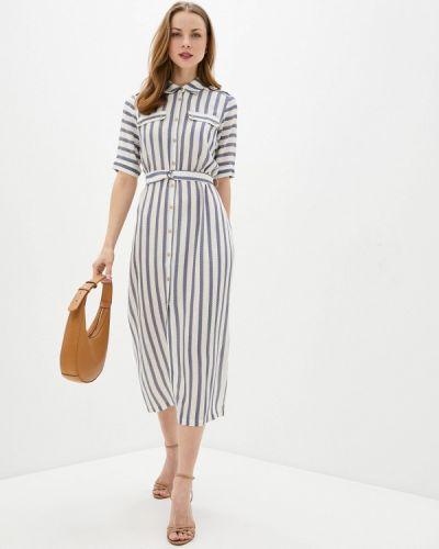 Платье рубашка - синее Bulmer