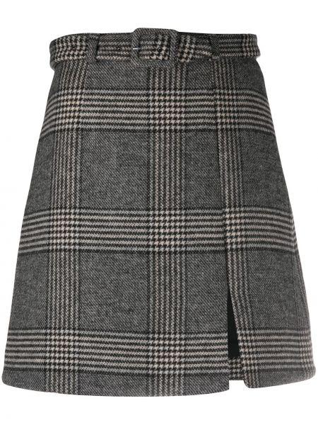 Черная акриловая юбка мини с поясом для полных Alexa Chung