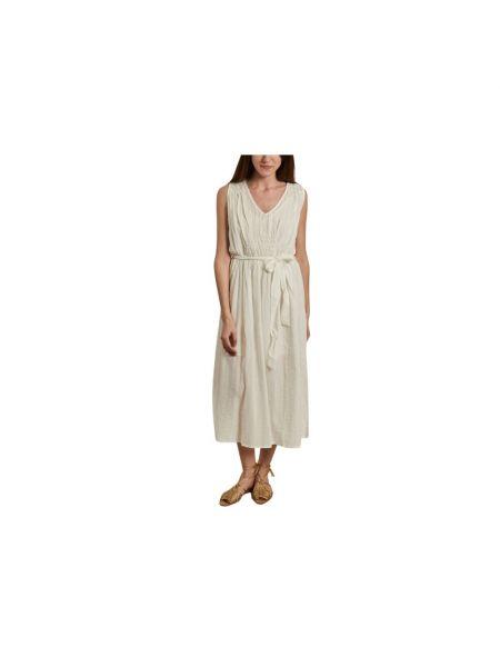 Biała sukienka długa Sessun