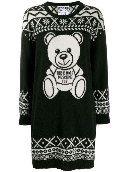 Платье в рубчик платье-свитер Moschino