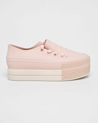 Кроссовки на платформе текстильные розовый Melissa