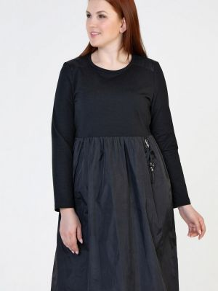Черное повседневное платье Prima Linea