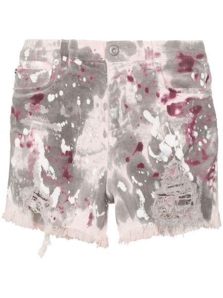 Серые джинсовые шорты с карманами со стразами Faith Connexion