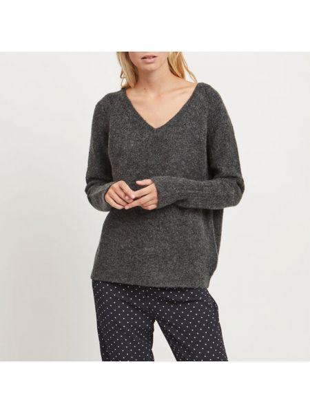 Пуловер с V-образным вырезом длинный Vila