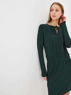 Платье осеннее зеленый Sisley
