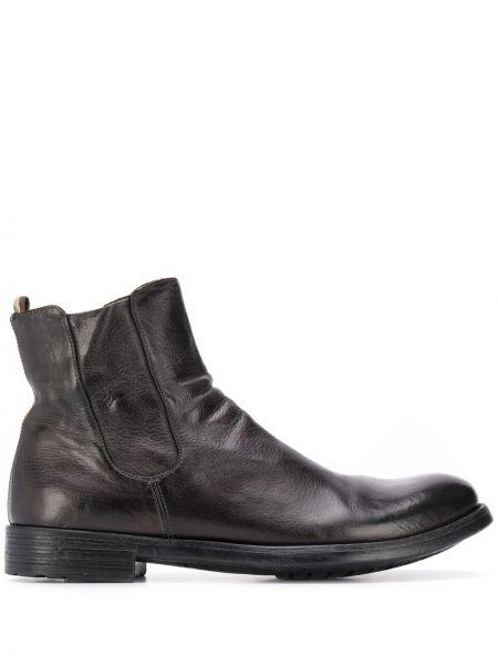 Czarny buty skórzane z prawdziwej skóry z ozdobnym wykończeniem Officine Creative