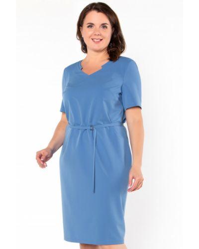 Платье из вискозы синее Virgi Style