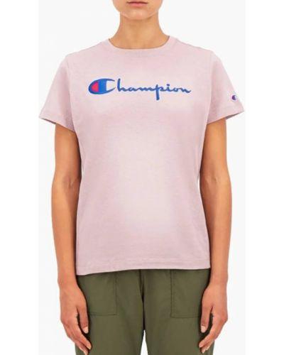 Розовая футболка Champion