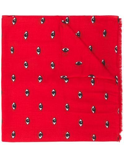 Красный шарф шелковый Kenzo