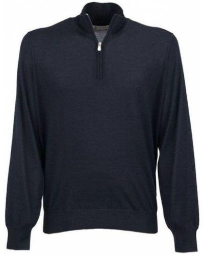 Z rękawami kaszmir sweter z kołnierzem Brunello Cucinelli