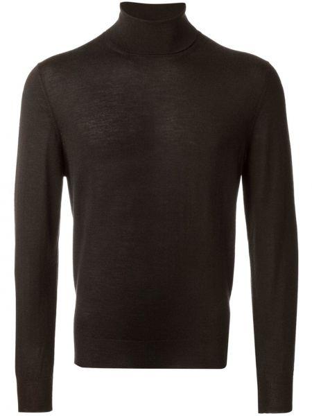 Коричневый кашемировый свитер Fashion Clinic Timeless