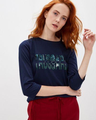 Поло синий Trussardi Jeans