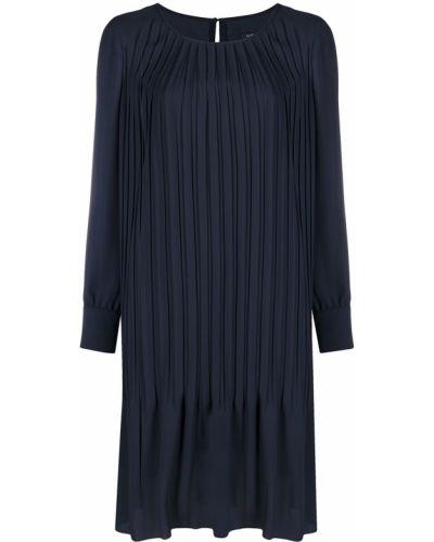 С рукавами синее платье макси трапеция Luisa Cerano