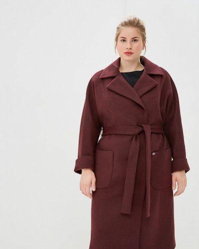 Пальто демисезонное бордовый симпатика
