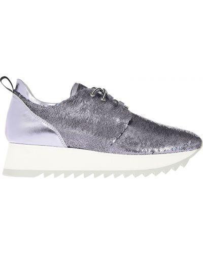 Кроссовки на платформе серебряного цвета Patrizia Pepe