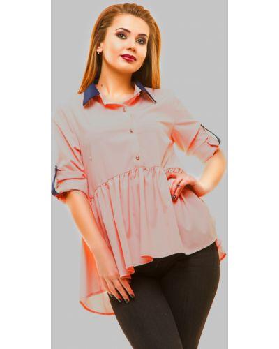 Блузка персиковый с манжетами Lacywear
