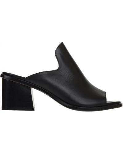 Мюли черный на каблуке Angelo Bervicato