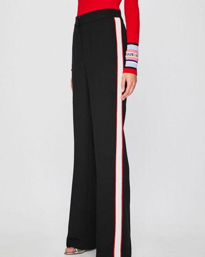 Свободные брюки с поясом черные Morgan