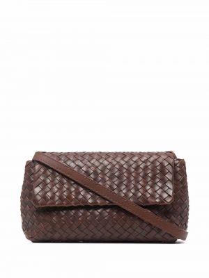 Кожаная сумка через плечо - коричневая Officine Creative