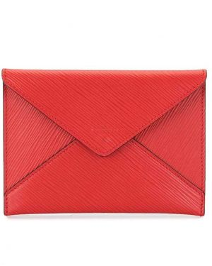 Сумка конверт красная Louis Vuitton