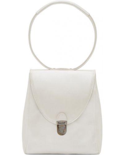 Бежевая маленькая сумка прямоугольная с жемчугом с тиснением Cherevichkiotvichki