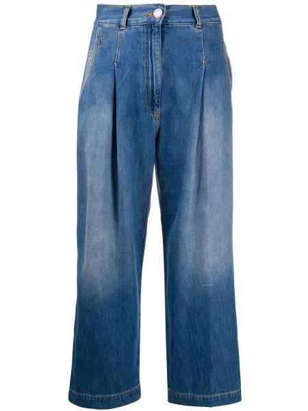 Широкие джинсы синие розовый Pinko