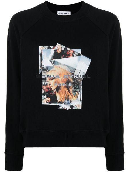 Czarna bluza z długimi rękawami Sonia Rykiel