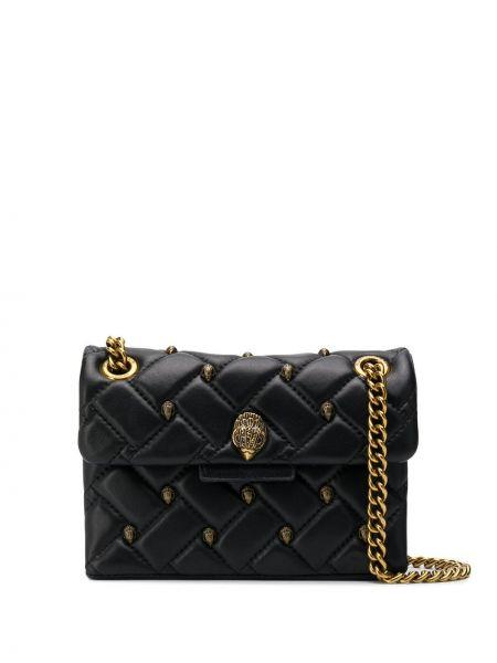 Черная стеганая сумка на цепочке круглая с декоративной отделкой Kurt Geiger London