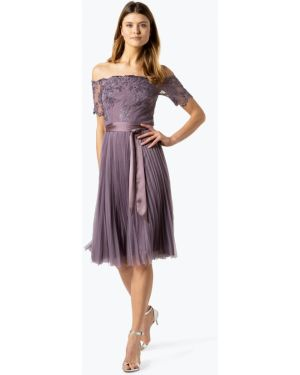 Sukienka elegancka z cekinami z odkrytymi ramionami Coast