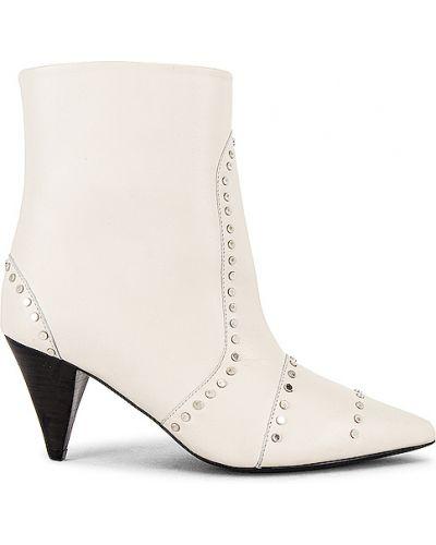Białe ankle boots skorzane miejskie Iro