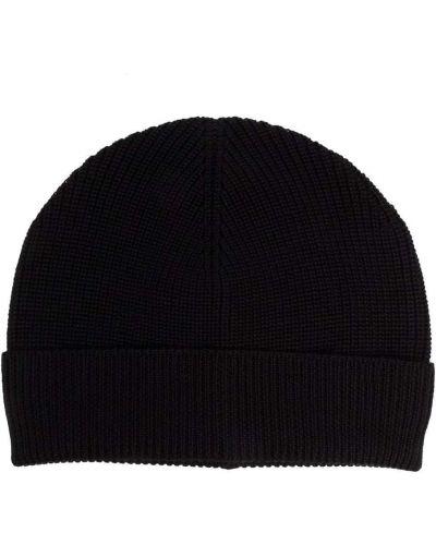 Czarna czapka wełniana Barena