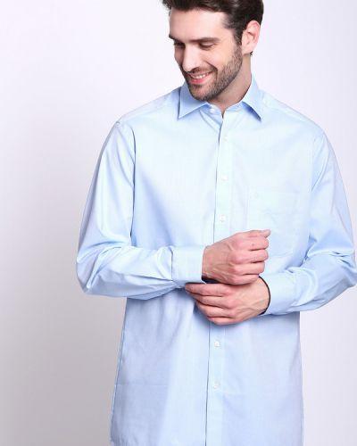 6a1e3cd9f0a6db5 X-moda. Рубашка с длинным рукавом хлопковая голубой Olymp