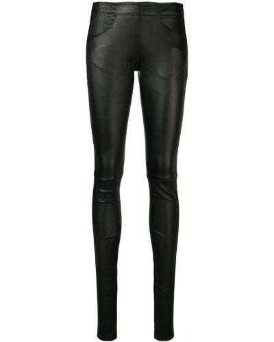 Черные брюки узкого кроя Poiret
