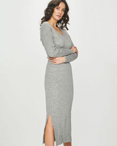 Платье миди с V-образным вырезом со складками Answear