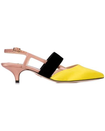 Мюли на каблуке желтый Andrea Gomez