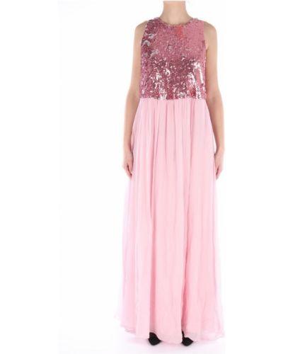 Sukienka długa z cekinami z szyfonu bez rękawów Lanacaprina