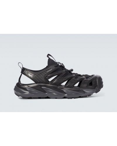 Текстильные черные сандалии на шнуровке Hoka One One
