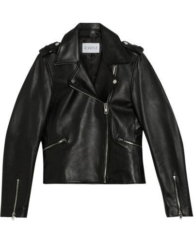 Кожаная куртка - черная Claudie Pierlot