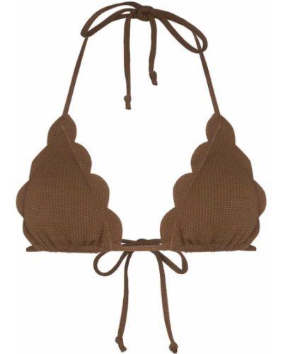 Коричневые бикини с завязками с чашками Marysia