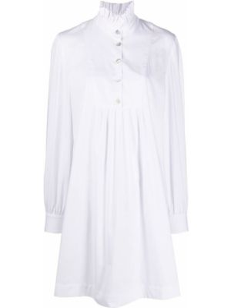 Расклешенное платье на пуговицах с длинными рукавами с вырезом Alexa Chung