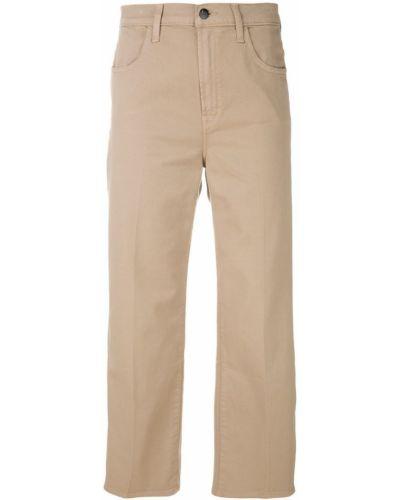 Широкие джинсы укороченные бежевые J Brand