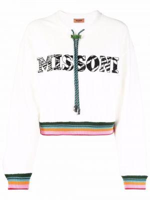 Хлопковый свитшот - белый Missoni