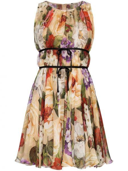 Шелковое расклешенное платье Dolce & Gabbana