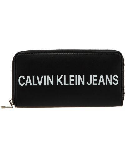 Кошелек на молнии черный Calvin Klein