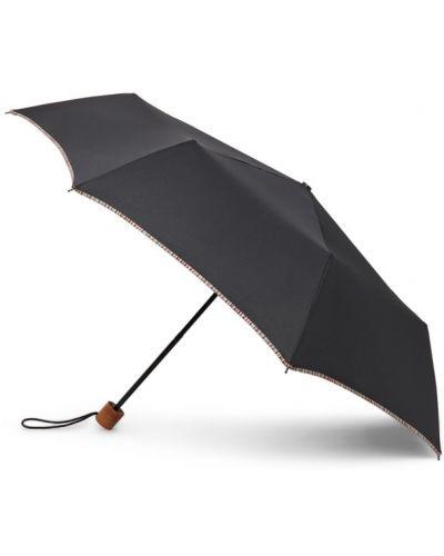 Czarny parasol z paskami w paski Paul Smith
